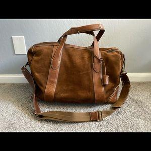 Brown Suede Coach Duffle Bag